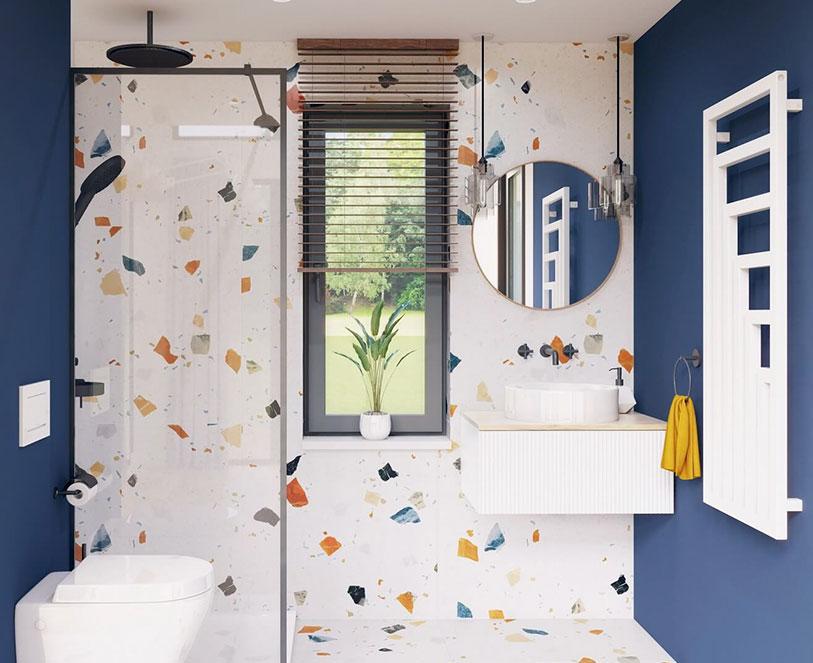 Modulars Cube35 Nowoczesna i wygodna łazienka z prysznicem Walk In